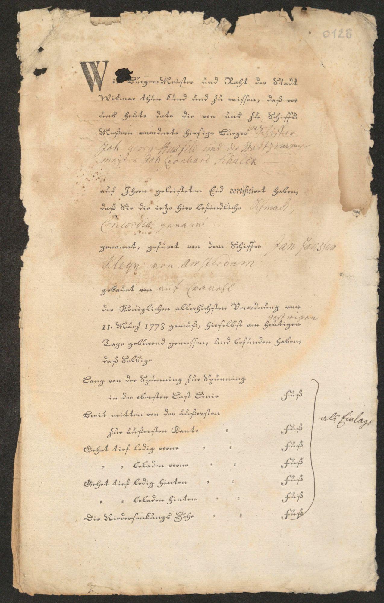 Beispielbild Wismarer Schiffsbriefe